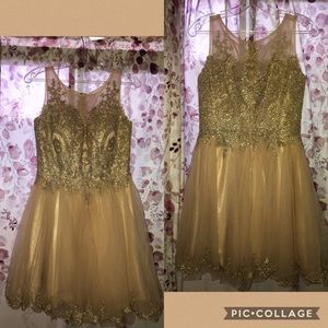 a cute champagne color dress
